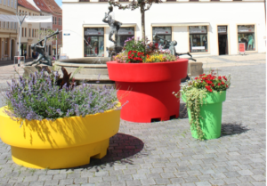 Europe is blooming… Large colorful flower pots
