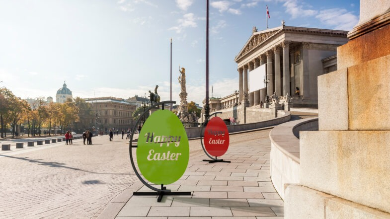 Easter eggs for public space