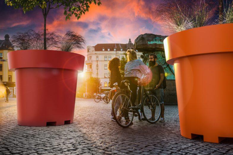 Colorful and mobile urban pots XXL gianto grande